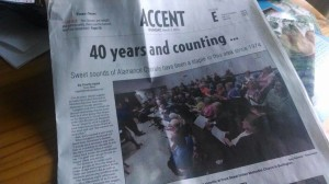 40 years and counting ... Sweet sounds of Alamance Chorale have been a staple in this area since 1974 By Charity Apple / Times-News Published: ACCENT Section E ... Sunday, March 2, 2014 at 03:05 AM.